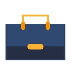 bag suitcase business line icon vector image