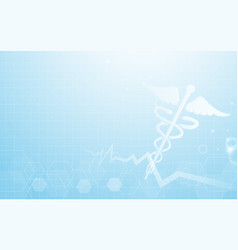 caduceus medical symbol and abstract background vector image vector image