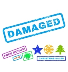 Damaged Rubber Stamp vector image