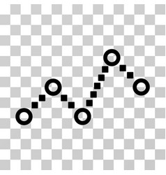 Dotted line icon vector