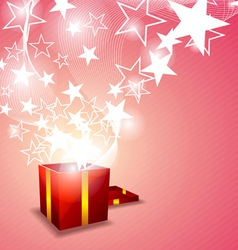 gift box and star floating vector image