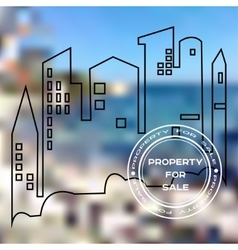 Poster for sale property vector image