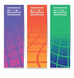 Vertical Banner Set Of Three Modern Graphic Theme vector image vector image