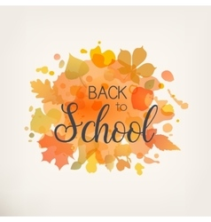 Back to Scool vector image vector image