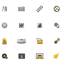 Car service icon set Part 2 vector image