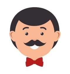 husband character with married suit vector image