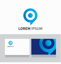 logo company card target vector image