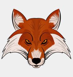 mascot fox head cartoon style vector image vector image