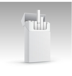 Opened Pack of Cigarettes Isolated on Background vector image