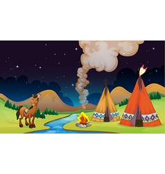 Overnight Camp vector image vector image