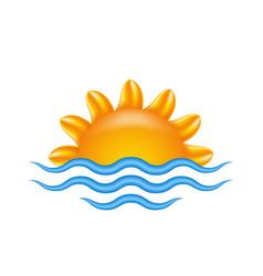 sun and sea for logo abstract creative concept vector image vector image