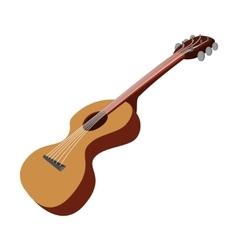 Guitar cartoon icon vector image vector image