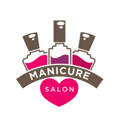 manicure salon or nails design studio vector image
