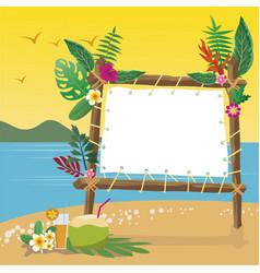 summer holidays on the beach with copy space vector image vector image