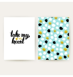 Take My Heart Hipster Posters vector image