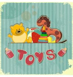 Vintage Design Toy Shop vector image