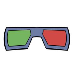 3d glasses icon cartoon vector image