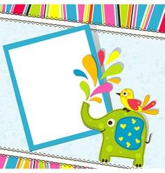Children birthday scrapbook card vector image