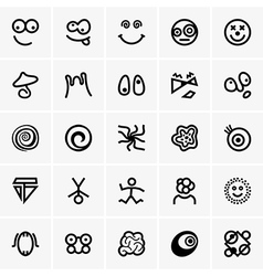 Crazy icons vector image vector image