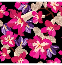 Floral seamless pattern with beautiful flowers vector image vector image