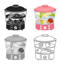 food steamer icon in cartoon style isolated on vector image