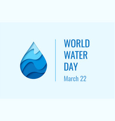 world water day - waterdrop concept vector image vector image