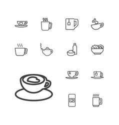 13 tea icons vector
