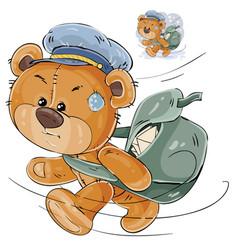 a brown teddy bear postman vector image