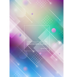 abstract geometric shapes on blurred colors vector image