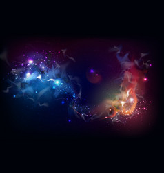 Abstract open space background starfield universe vector
