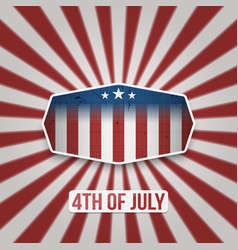 American 4th of july independence day banner vector