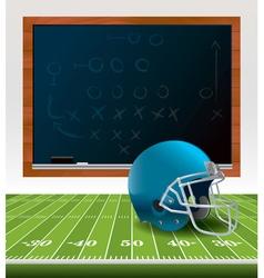 American Football Chalkboard Helmet vector image
