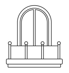 arched window icon outline style vector image