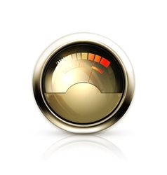 Audio Gauge vector image vector image