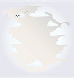 background with white clouds vector image