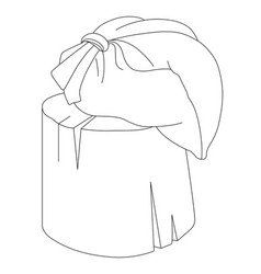 Bag on stump vector