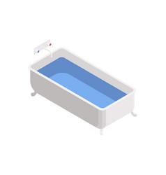 Bathtub isometric icon vector