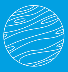 Big planet icon outline style vector