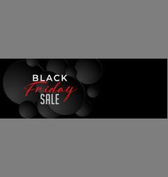 black friday dark sale banner design template vector image