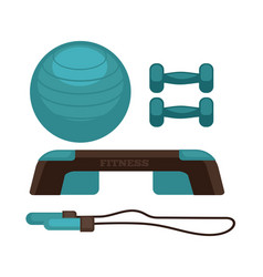 blue colored fitness equipment vector image
