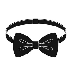 Bow tie icon in black style isolated on white vector