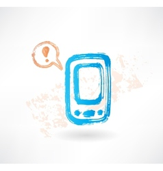 Brush icon with cellphone and bubble speech vector