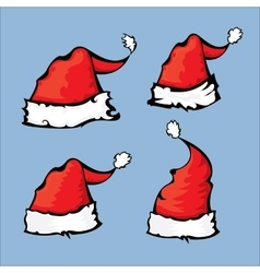 cartoon red Santa hat vector image