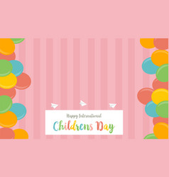 collection stock childrens day cute background vector image