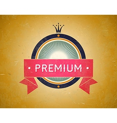 Colorful vintage premium label vector image