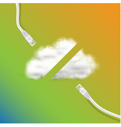 connection to cloud vector image