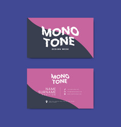 Corporate business card template vector