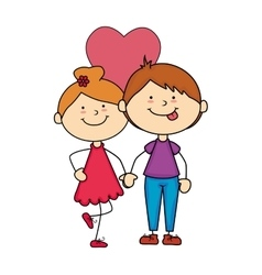 Couple happy romance love vector
