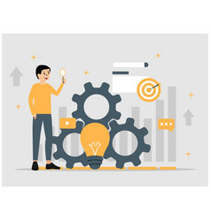 Creative idea innovation flat concept vector