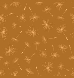 dandelion seeds on brown background seamless vector image